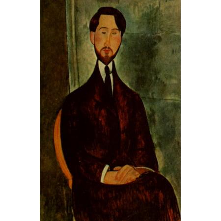 Leopold Zborowski 1917 Stretched Canvas - Amedeo Modigliani (18 x (Sola 24 Inch)