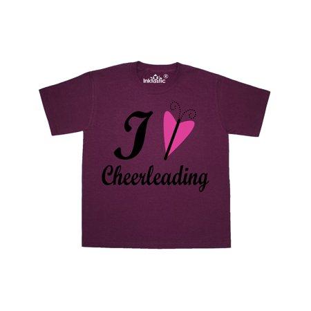 I Love Cheerleading Youth T-Shirt