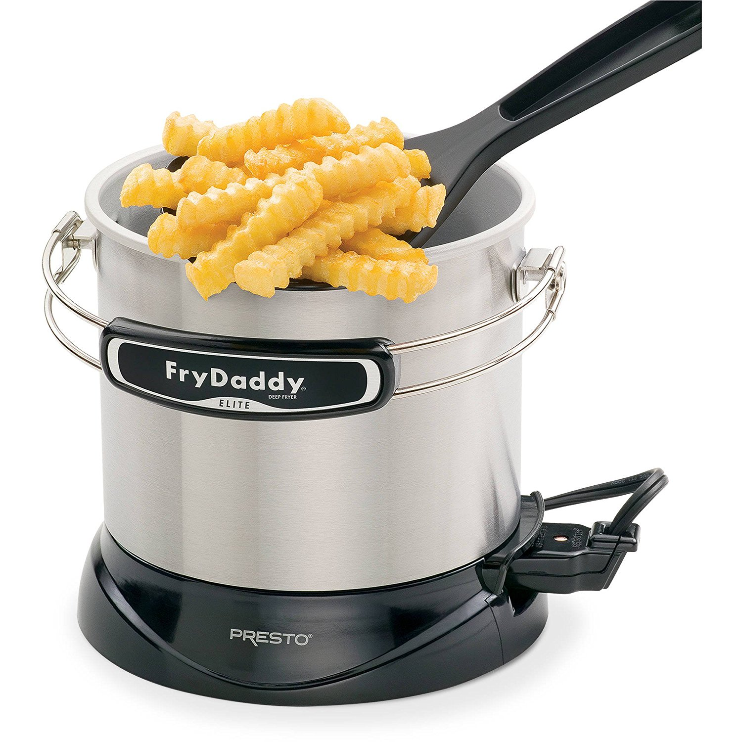 Frydaddy Elite 4-cup Electric Deep Fryer Delicious Deep-fried Foods, Fast and Easy 8.125 X 9.0 X 7.5, Presto FryDaddy Elite 4-Cup Electric Deep Fryer By Presto