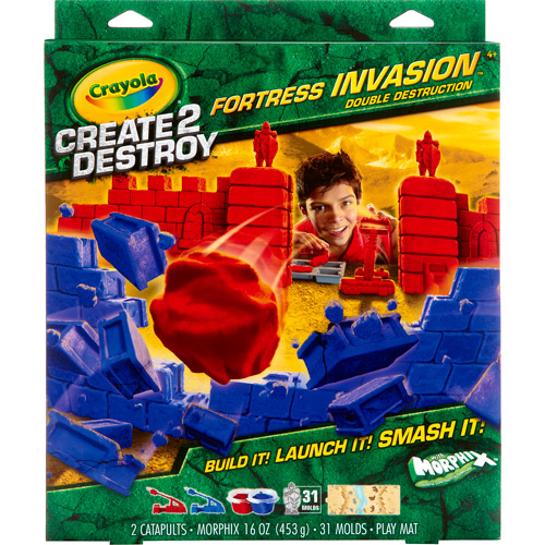 Crayola Create 2 Destroy Fortress Invasion Play Set, Double Destruction