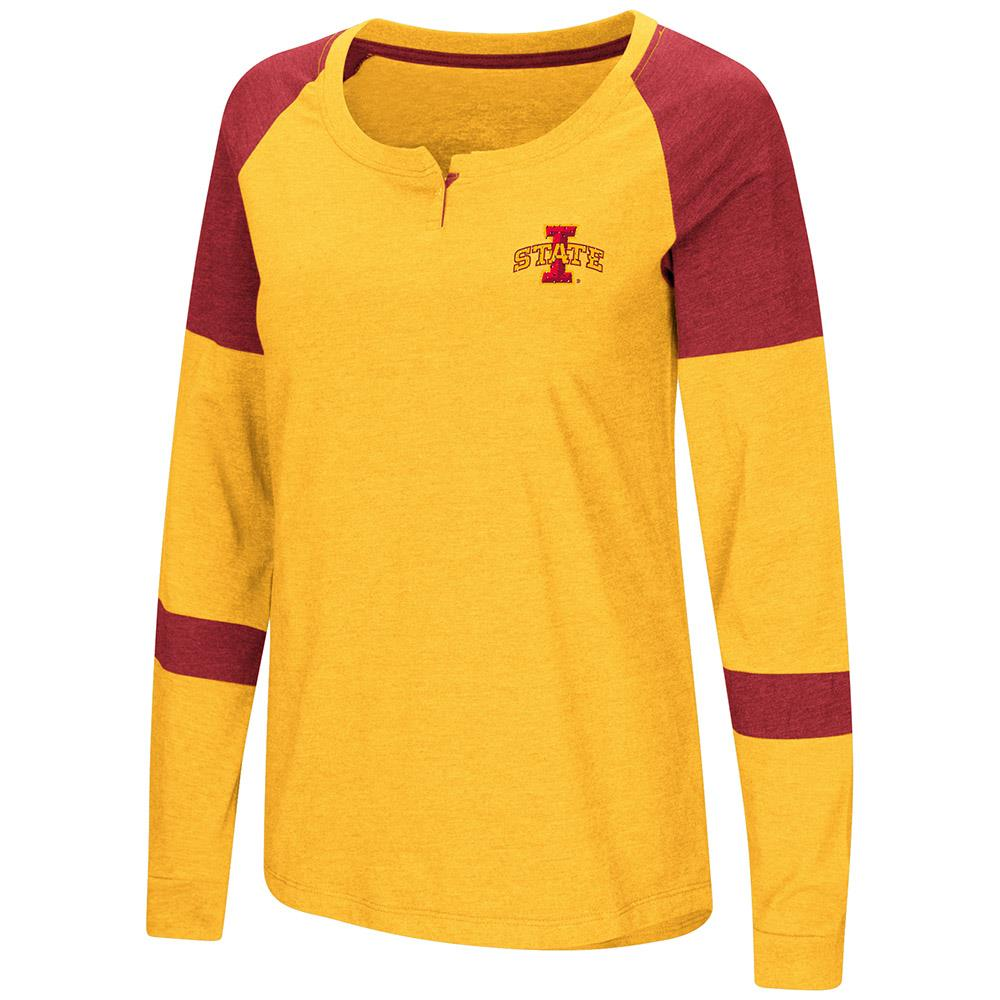 Womens Iowa State Cyclones Long Sleeve Raglan Tee Shirt - M