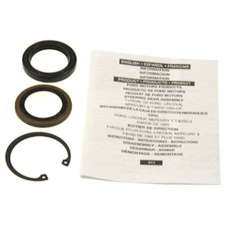 Lower Gear Case Seal - Edelmann 8772 Power Steering Gear Box Lower Pitman Shaft Seal Kit