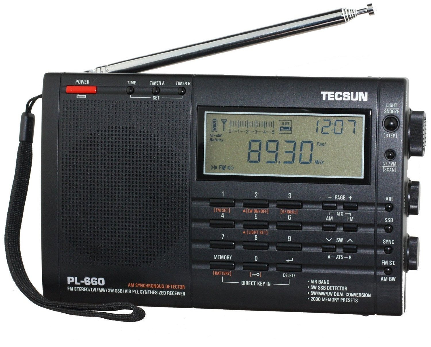 Click here to buy Tecsun PL660 AM FM SW Air SSB Synchronous Radio Black by Tecsun.
