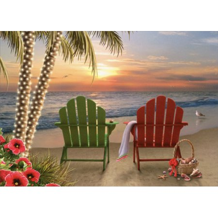 LPG Greetings Two Adirondack Chairs Alan Giana Christmas Card Choir Christmas Card