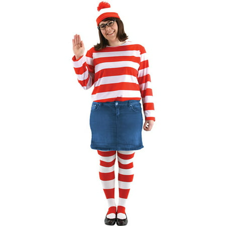 Wheres Waldo Wenda Kit Adult Halloween - Waldo And Wenda Halloween