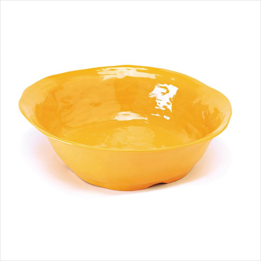 New Yorker 4.25 qt 14 x 4 Round Bowl Tropical Yellow Melamine/Case of 3