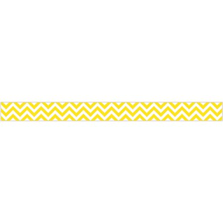 Yellow Chevron Border