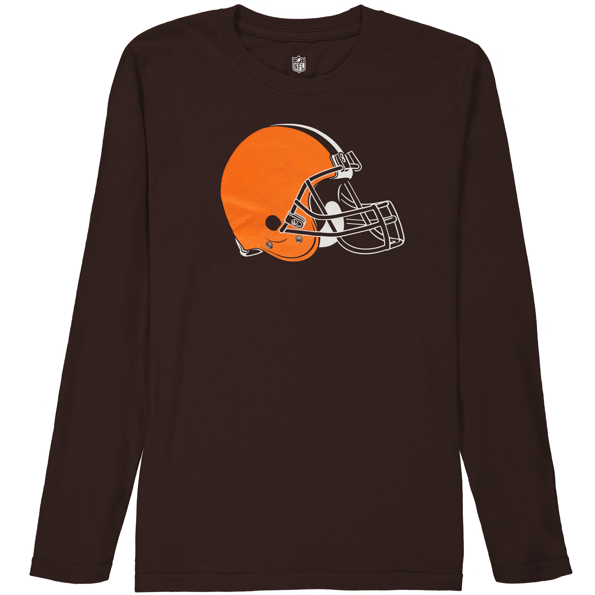Cleveland Browns Youth Team Logo Long Sleeve T-Shirt - Brown