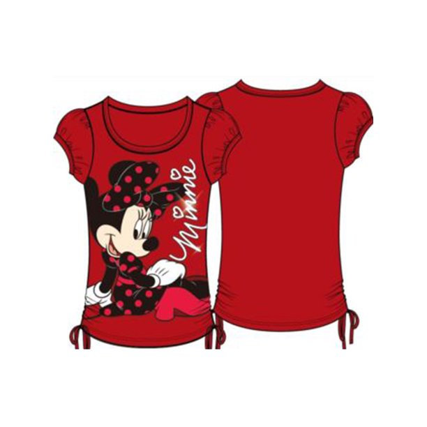 Disney Youth On the Ground Minnie Mouse Medium Fashion Top Side Ties
