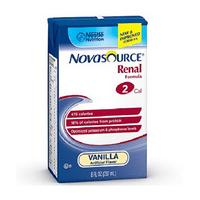 Nestle Nutrition Novasource Renal Formula, Vanilla, 8fl oz, 27 Servings