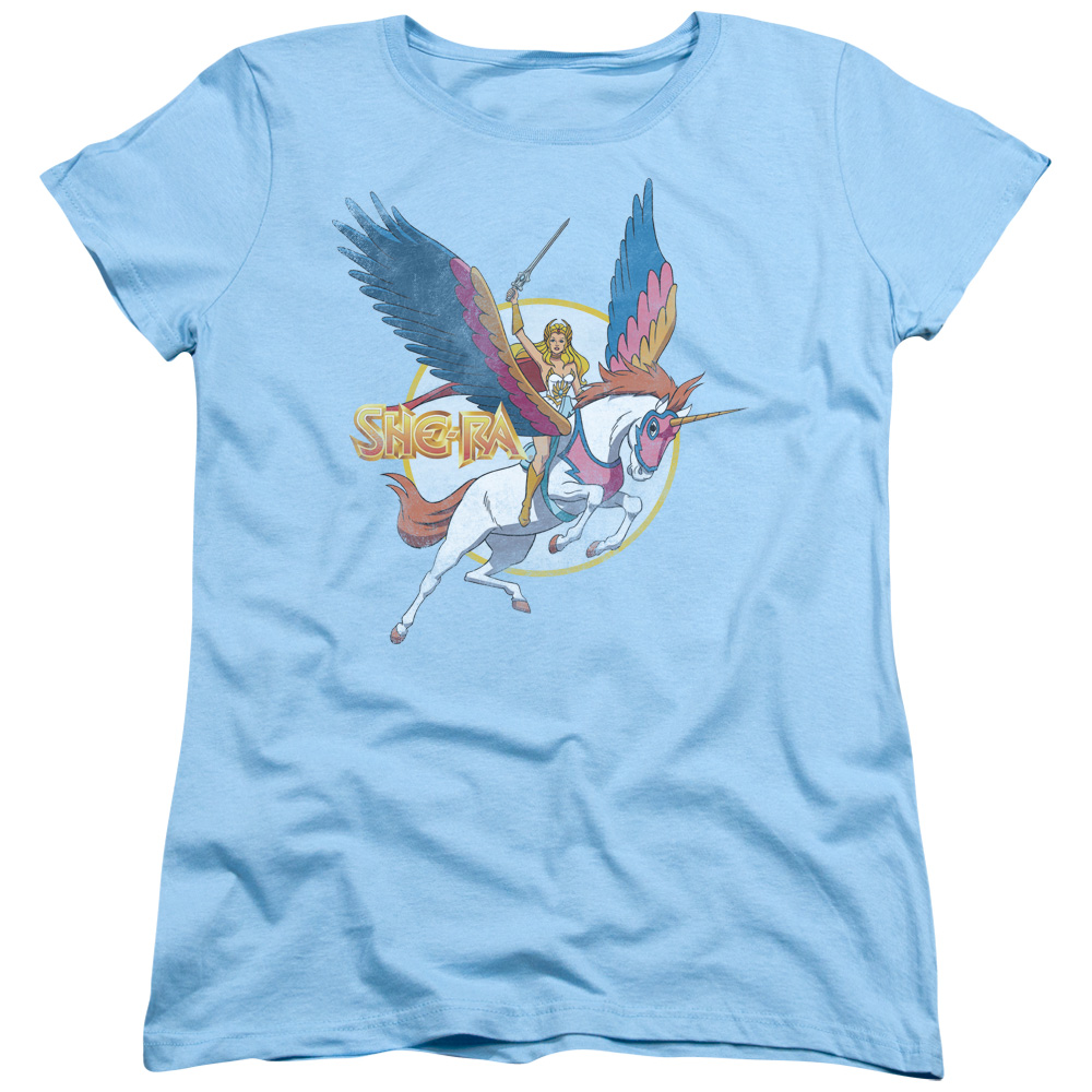 She Ra And Swiftwind Womens Short Sleeve Shirt