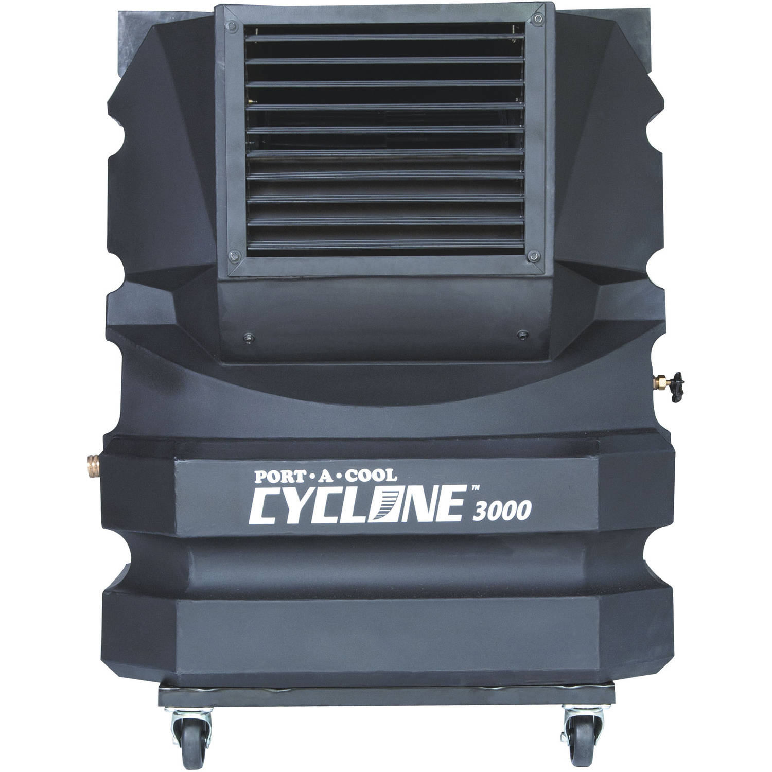 Port-A-Cool Cyclone 3000 Portable Evaporative Cooling Unit, Black