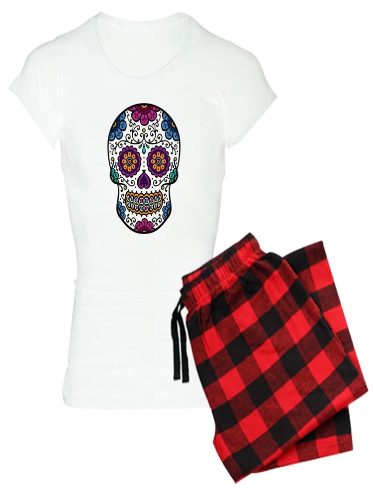 178032c592 CafePress - CafePress - Sugar Skull - Women s Light Pajamas ...