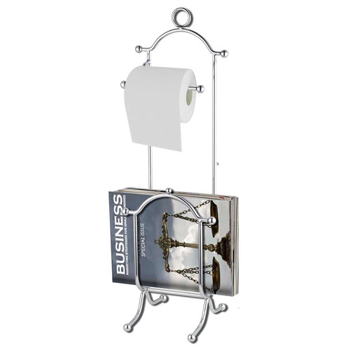 Home Basics Chrome Toilet Paper Holder with Magazine Rack by Generic