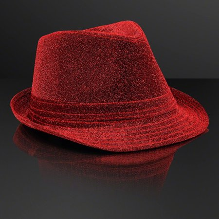 Soft Red Fabric Fedora Hat Non Light Up by Blinkee