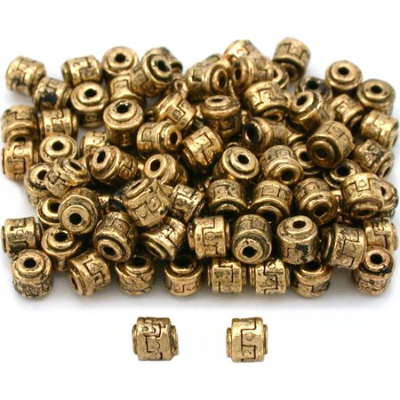 Tube Bali Beads Antique Gold Plated Part 5mm Approx 100