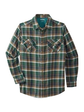 Kingsize Men's Big & Tall Plaid Flannel Shirt