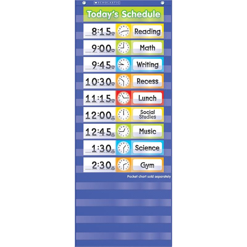 Teachers Friend TF-5405 Schedule Cards Pocket Chart Add Ons