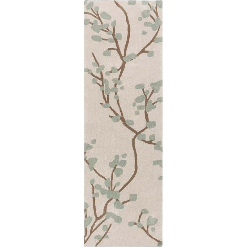 "Surya Hudson Park 2'6"" x 8' Hand Tufted Runner Rug in Gray"