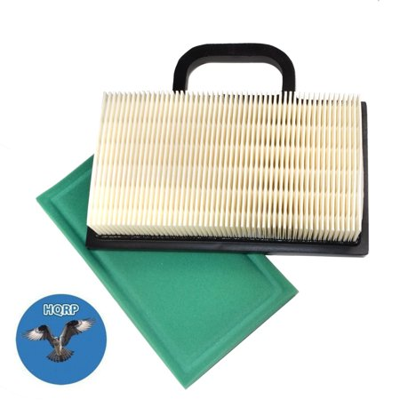 Image of HQRP Air Filter Cartridge w/ Pre-cleaner for John Deere GY20575, GY21056, MIU11286 Replacement fits D140, D130, Z425 Lawn Tractor + HQRP Coaster