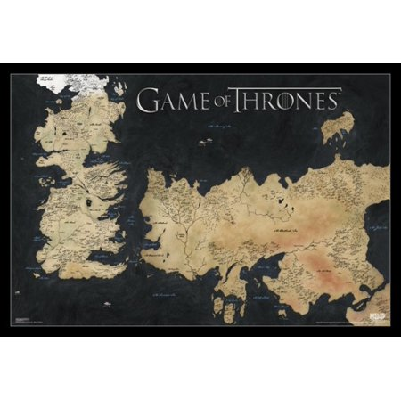 Game of Thrones Map Map of Weste Poster Poster Print (Game Of Thrones Season 5 Poster)