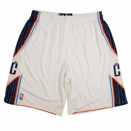 Charlotte Bobcats NBA Adidas White Authentic On-Court Climacool Team Game Shorts For Men (5XLT2)