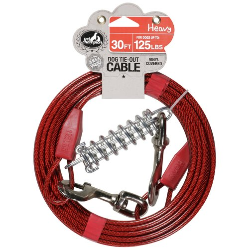 Pet Champion 30 ft Heavy Dog Tie-Out Cable