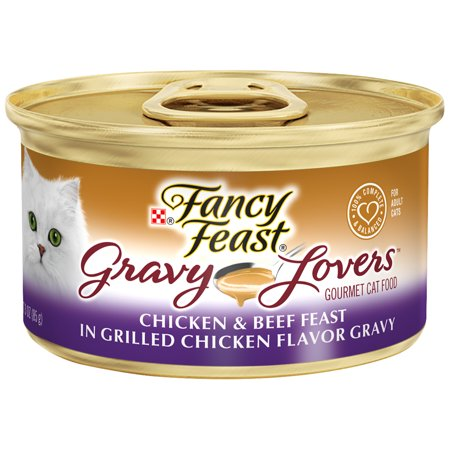 Fancy Feast Gravy Wet Cat Food, Gravy Lovers Chicken & Beef in Grilled Chicken Flavor Gravy - (24) 3 oz.