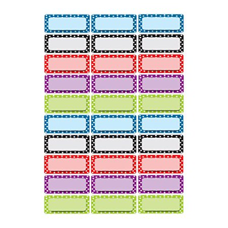 Ashley Productions Dots Pattern Magnetic Small Nameplates - image 1 of 1
