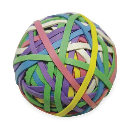 Rubber Band Ball,#30,3-3/16x1/8in,Asst ZORO SELECT 2WFX9