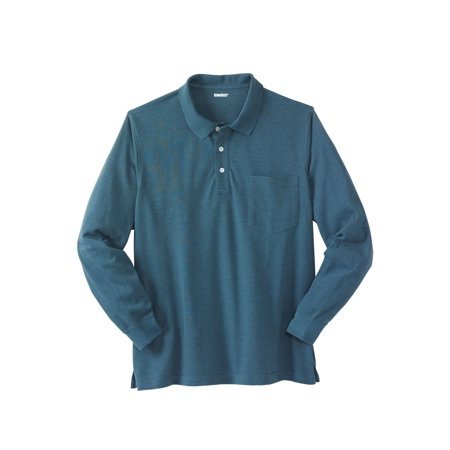 Men's Big & Tall Long-sleeve Pique Polo Shirt (Big & Tall Long Sleeve Polo Shirts)