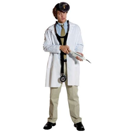 Lab Coat Standard Men's Adult Halloween Costume, One Size, (40-46) (Lab Coat Halloween Ideas)