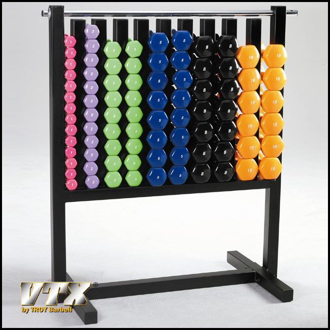 Troy Barbell MDR-VPAC Aerobic Pac Vinyl D-Bell Rack With 43 Pairs Dumbbells by