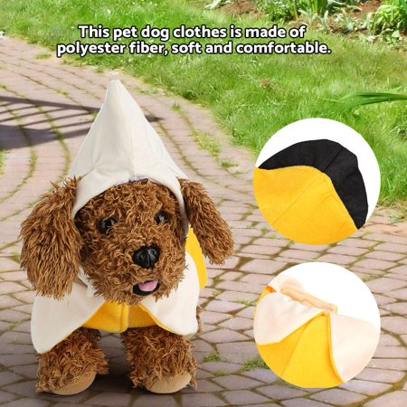 Dog Clothes,Fosa Funny Banana Style Dog Clothes Fashion Halloween Puppy Cosplay Suit Outfit Theme Party Costume, Dog Outfit