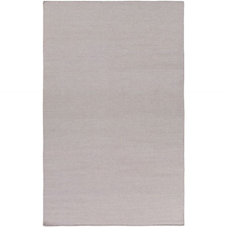 Solid/Striped Dutchess Collection Area Rug in Light Gray and Oval, Rectangle, Round, Runner Shape