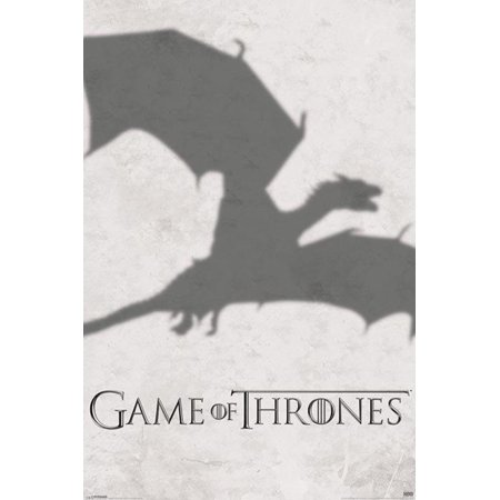 Game Of Thrones Got Dragon Shadow Daenerys Targaryen Hbo Tv Show Poster   24X36