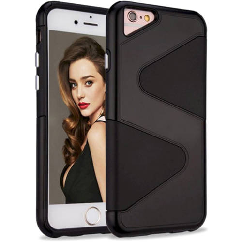 KIKO Wireless Slim S Style Defender Hybrid Case Anti-Scratch Skin Drop Protective TPU Silicone Hard Tuff Shell Cover Soft Rubber Surface for Apple iPhone 7