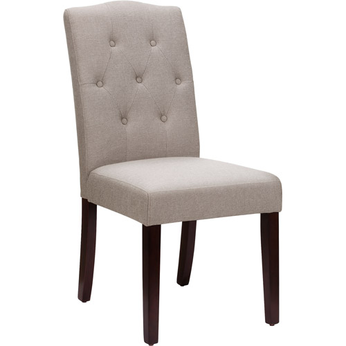 Better Homes And Gardens Parsons Upholstered Tufted Dining Chair Taupe Walmart Com Walmart Com