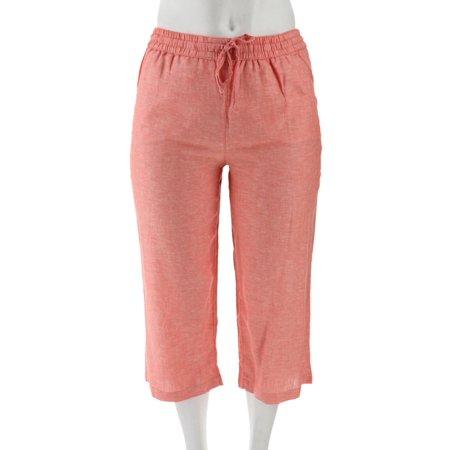 Liz Claiborne NY Jackie Cropped Linen Pants - Liz Claiborne Petite Pants