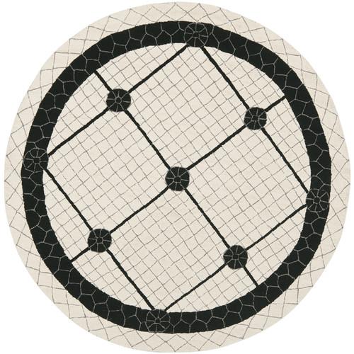 Safavieh Newport Ivory/Black Geometric Area Rug