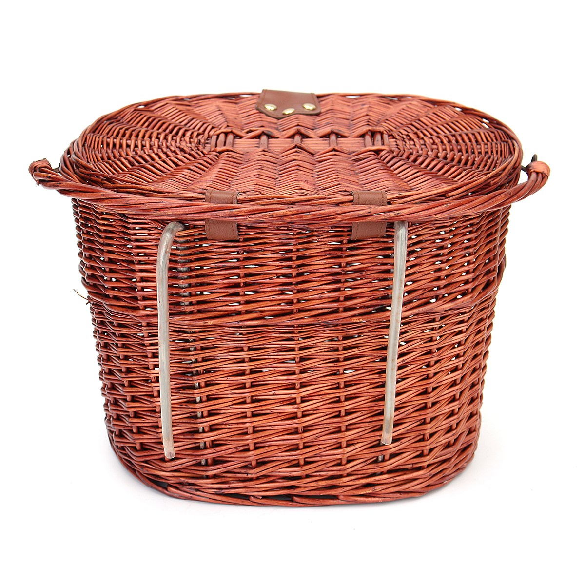 Retro Wicker Bicycle Bike Front Basket Handlebar Cargo Box Shopping Camping