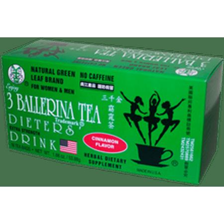 BALLERINA TEA DIETERS DRINK EXTRA STRENGH CINNAMON FLAVOR (3 boxes) - Tea Favors