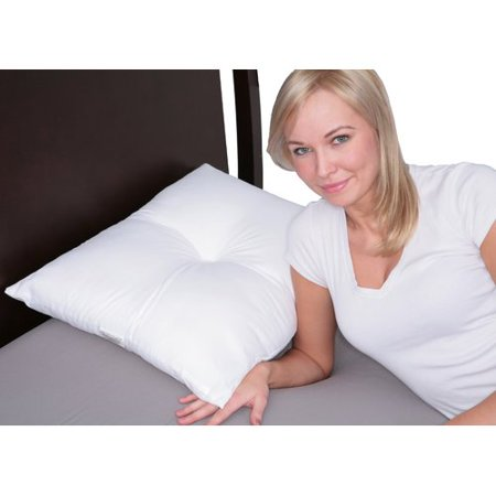 Deluxe Comfort Stress Free Side Sleeper Pillow – Therapeutic Ear Comfort – Medicinal Ear Pressure Relief – Perfect Side and Stomach Sleeper – Bed Pillow,