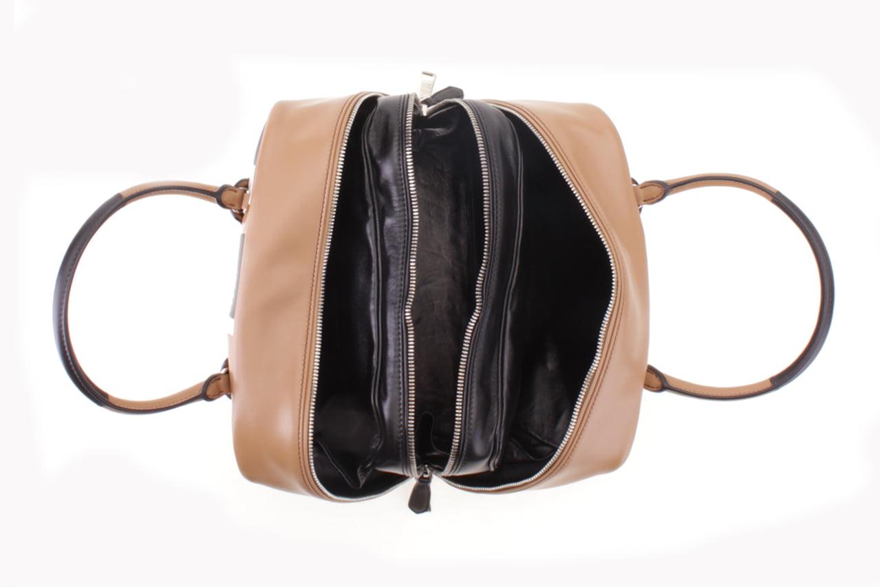 7fbdabd331 Prada - Prada Striped Pattern Calf Baiadera Leather Inside Bag Shoulder  Handbag - Walmart.com