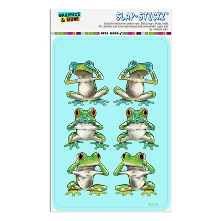 See No Evil Hear Speak Tropical Rainforest Frogs Home Business Office Sign No Evil Frogs