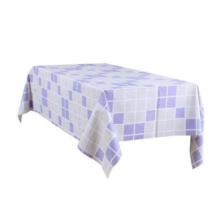 "Tablecloth PVC Oil Stain Resistant Plaid Pattern for Rectangle Table 54""x71"",#8 - image 7 de 7"