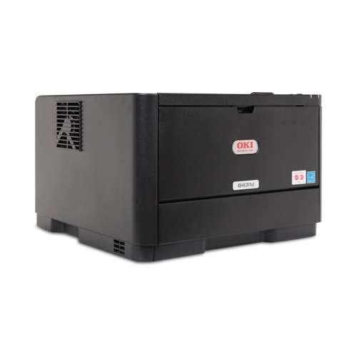 OKI B431d Black and White Laser Printer - 1200 x 1200 dpi, 40ppm, Duplex (2-sided printing), USB, Parallel, 64MB, 330MHz