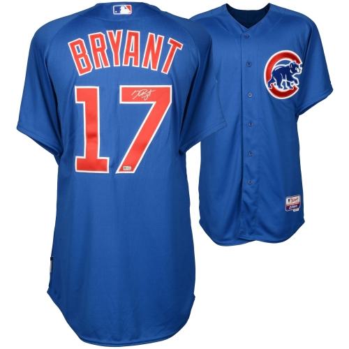 Kris Bryant Chicago Cubs Fanatics Authentic Autographed Blue Authentic Jersey - No Size