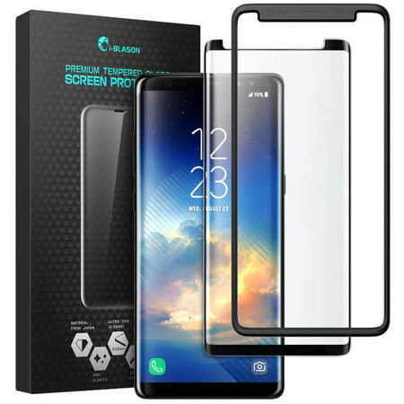 i-Blason Galaxy Note 8 Screen Protector, Premium Edge-to-Edge Full Coverage Tempered Glass Screen Protector With Mounting Tool for Samsung Galaxy Note 8 (2017 Release) ()