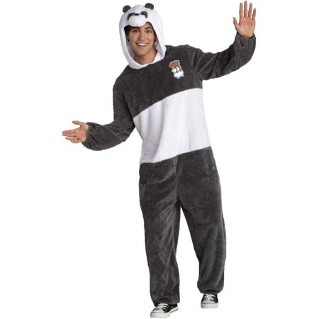 We Bare Bears Panda One Piece Suit Adult Costume (Big Panda Head Costume)